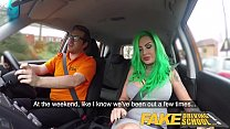 Fake Driving School Busty learner is wet and horny for instructors cock