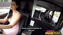 Female Fake Taxi Kira McQueen rides a big black cock