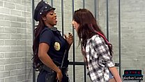 Black female cop strapon fucked by a hot teen i...