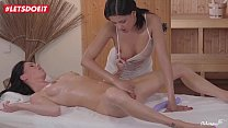 LETSDOEIT - Horny Lesbian Massagist Abuses Her Client (Coco De Mal & Eileen Sue) pornhub video