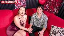 LETSDOEIT - Amateur Teen Gets First Time Sex On...