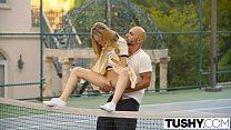 TUSHY First Anal For Tennis Student Aubrey Star's Thumb