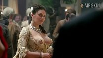 Kimberly Smart nipple dress scene from Outlander the series