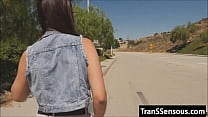 hitchhiker is a tranny!