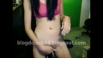 teen licking panty discharge on webcam