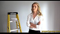 Young property manager beauty fucks her big dick coworker Image