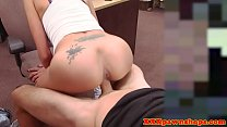 Pawnshop latina riding dick for quick cash