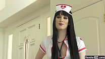 Ts Erica Cherry analed in nurse uniform