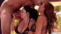 Busty Milfs Dayton Raines & Richelle Ryan in Suck & Fuck Pool Boy Threesome Preview