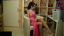 Pretty brunette girl in pink prom dress. WHO IS SHE?? thumbnail