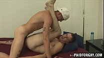 Horny straight dude getting fucked anally for cash