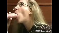 Innocent looking MILF gets an oral creampie thumbnail