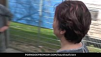 HAUSFRAU FICKEN - German Housewife gets full load on jiggly melons thumbnail