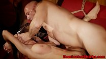 Submissive babe fucked and jizzed on bigtits