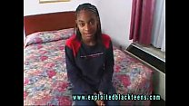 Young Ebony Black Teen in Black Hardcore Porn V...