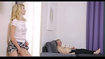 Lustful old boy fucks young angel preview image