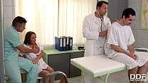 Clinic threesome with Milf Doc Dominica Phoenix leads to double penetration Thumbnail