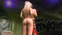 amazing blonde fuck on stage