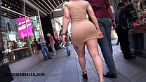 Shapely Latina in Tan Colored Super Short Dress porn thumbnail