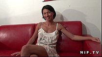 French milf with nice tits gets anal fucked