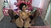 Spex ts ebony toying her tight ass