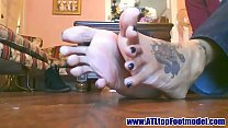 Karana's Sexy Long Toes and Soles Part 1- www.prettyfeetvideo.com