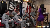 Horny Mechanics Gangbang Ebony Bellah Dahl pornhub video