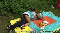 7949 College babe fucked at outdoor bbq preview