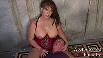 Saharra Huxly Abuses Slave Billy Thumbnail