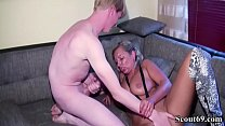German Mother Fucks Step-Son with 27cm Monster Cock and husband watch thumbnail