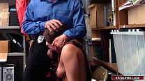 Brunette shoplifter punished and fucked