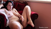 Busty Brunette Aeryn Masturbating Her Hairy Pussy Thumbnail