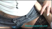 Amateur student in miniskirt, stripping and getting spanked