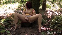 Chubby Amateur Hannah Toying Her Pussy In Public Preview