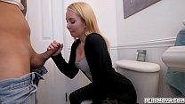 Stepmom Aaliyah Love gave stepson a hot blowjob preview image