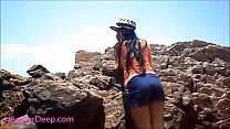 HD Heather Deep public outdoor deepthroat cum swallow new