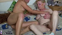 OldNanny Granny with hairy pussy, young girl, and toys pornhub video
