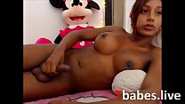 Beautiful teen latina tranny with piercings webcam session