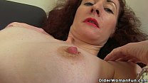 Skinny milf Scarlet from the UK gives her pussy...