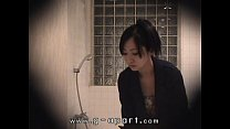 Voyeur of Japanese girl Mako higashio in bathroom