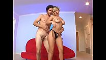 Amazing hottie with nice boobs Velicity Von takes big cock by her tight asshole