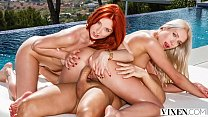 VIXEN Perfect Redhead Is Seduced On Vacation By A Couple