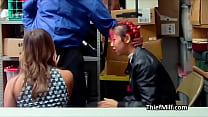 Asian MILF makes a deal with the security guard