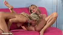 Beauties Karie and Salma from Sapphic Erotica lesbian action
