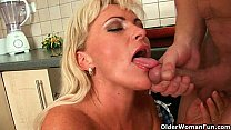 Mom will take your cum in any way she can Image