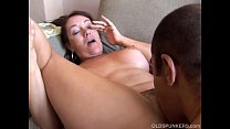 Kinky old spunker loves it when you cum in her mouth thumbnail