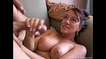Kinky old spunker loves it when you cum in her ...