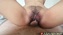 Asian Sex Diary - Young Filipina cutie gets her hairy pussy fucked pornhub video