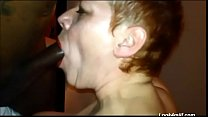 Short haired mature BBC squirt and anal