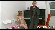 Steaming young playgirl fucks old guy